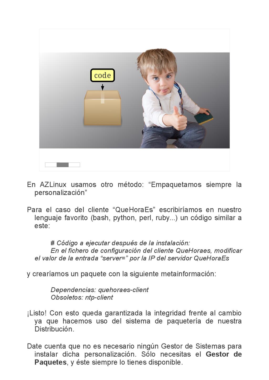 """code En AZLinux usamos otro método: """"Empaquetam..."""