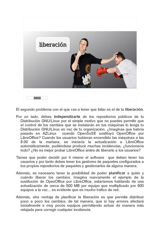 liberación liberación El segundo problema con e...