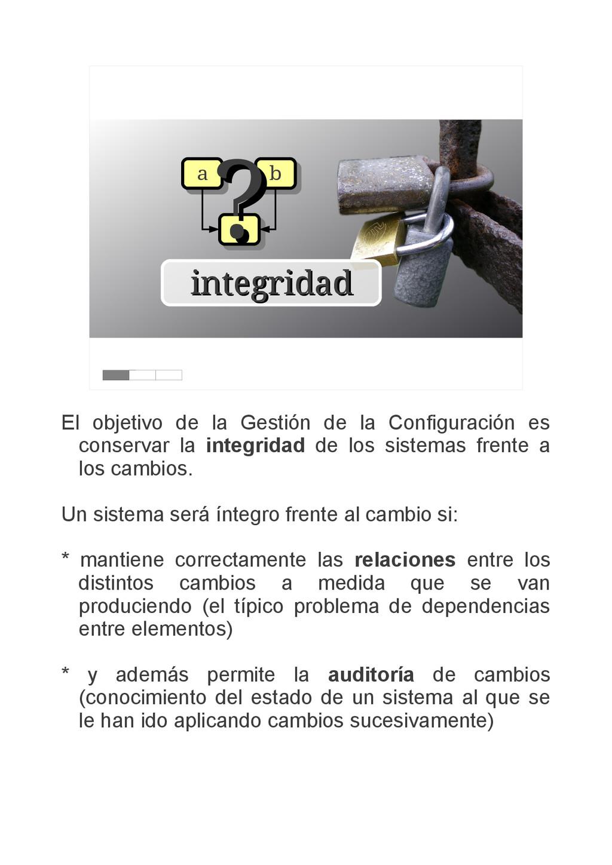 integridad integridad a a b b c c ? ? El objeti...