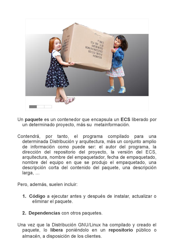 Un paquete es un contenedor que encapsula un EC...