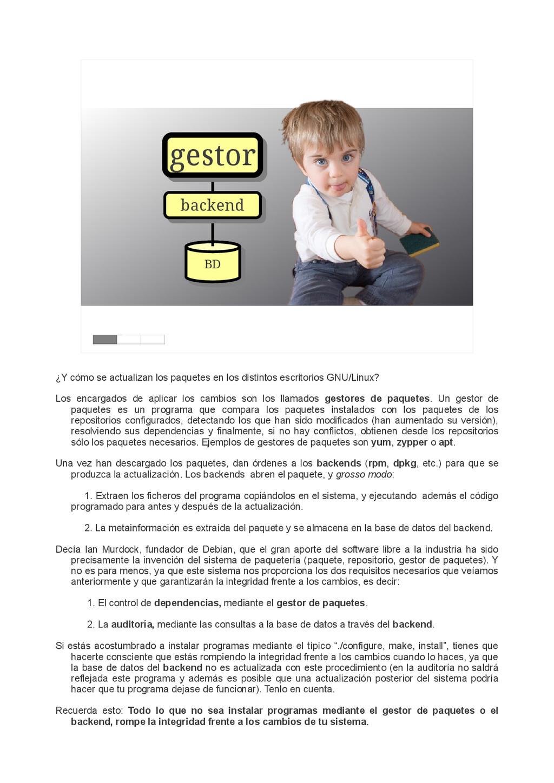 BD BD backend backend gestor gestor ¿Y cómo se ...