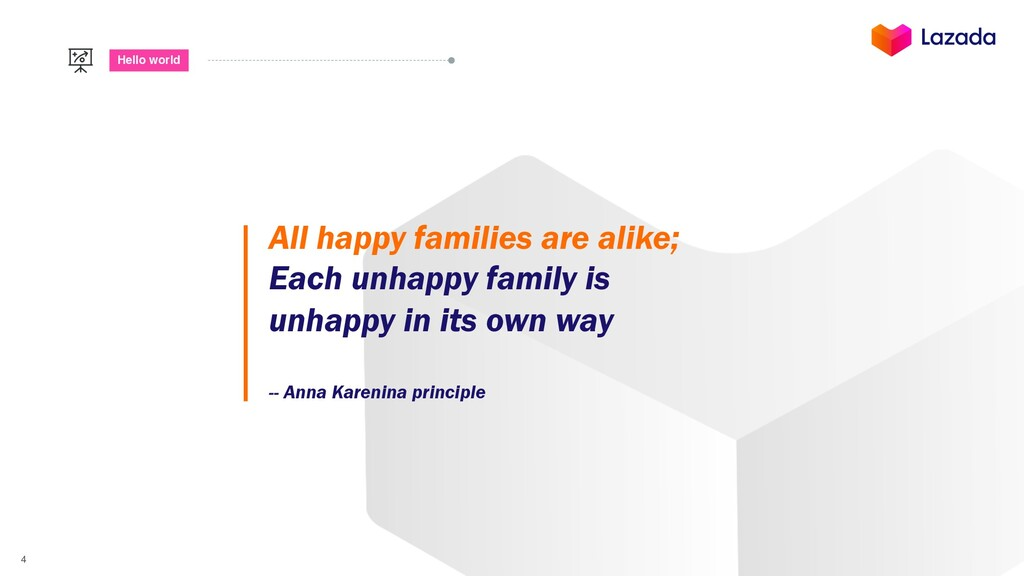 4 Hello world All happy families are alike; Eac...