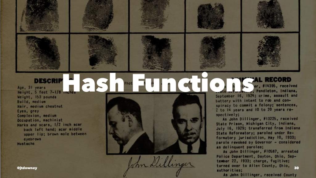 Hash Functions @jtdowney 30