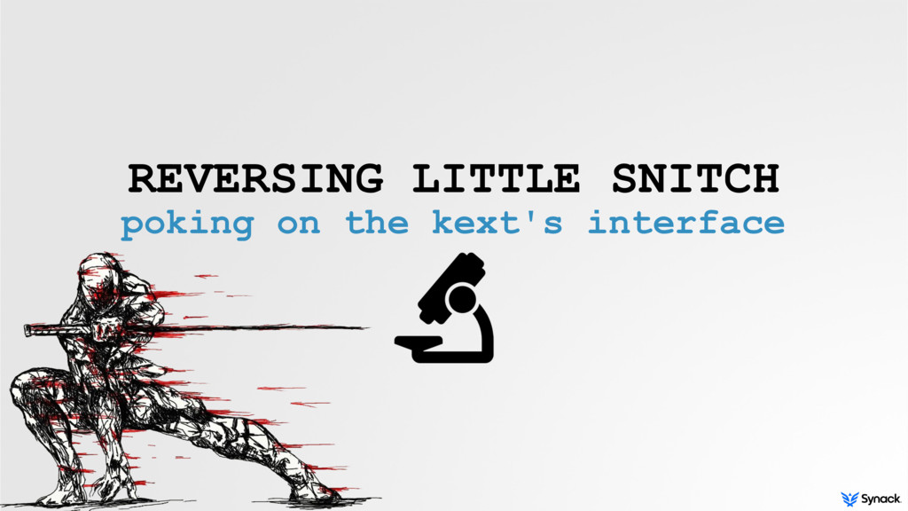 REVERSING LITTLE SNITCH poking on the kext's in...