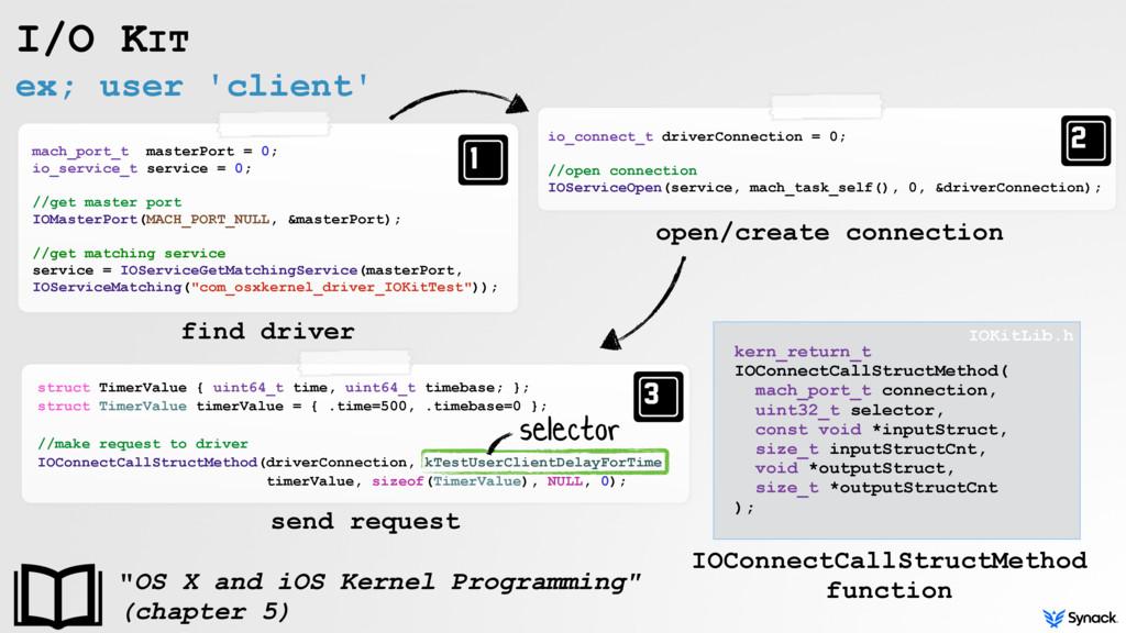 ex; user 'client' I/O KIT mach_port_t masterPor...