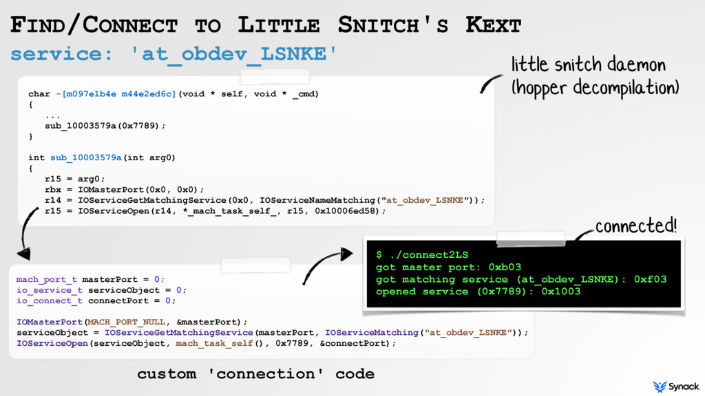 service: 'at_obdev_LSNKE' FIND/CONNECT TO LITTL...