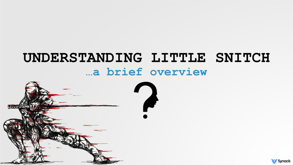 UNDERSTANDING LITTLE SNITCH …a brief overview