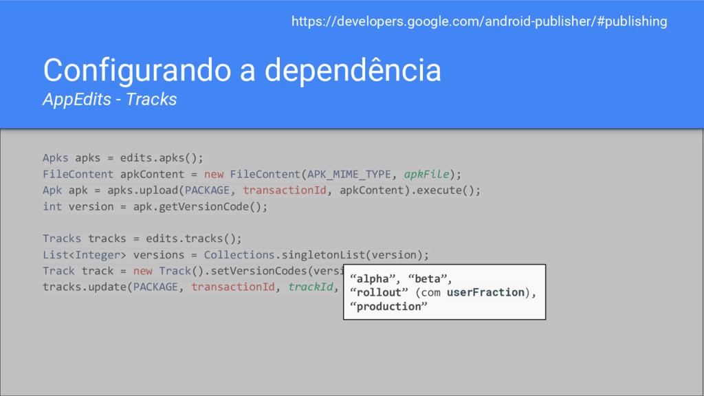 Configurando a dependência AppEdits - Tracks Ap...
