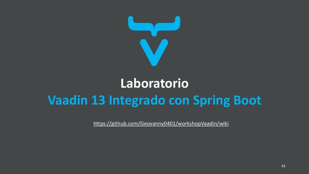 Laboratorio Vaadin 13 Integrado con Spring Boot...