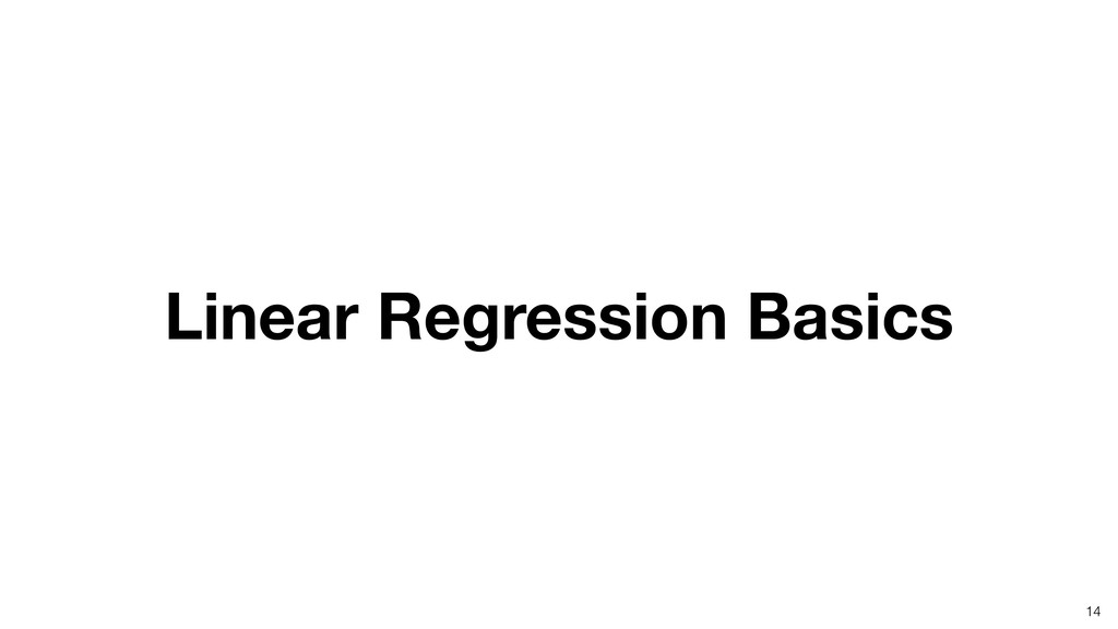 Linear Regression Basics 14