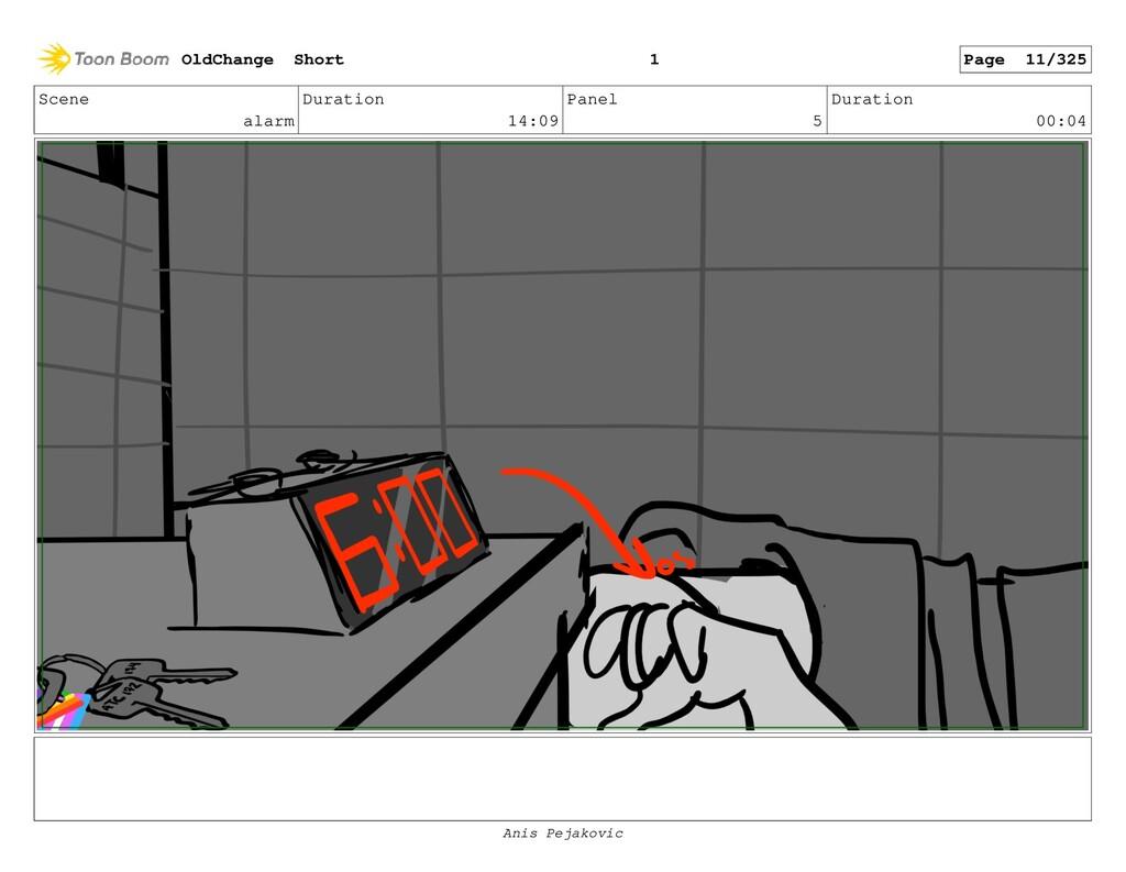 Scene alarm Duration 14:09 Panel 4 Duration 01:...