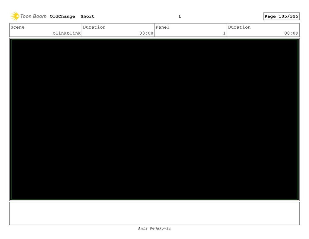 Scene Slump Duration 01:01 Panel 8 Duration 00:...