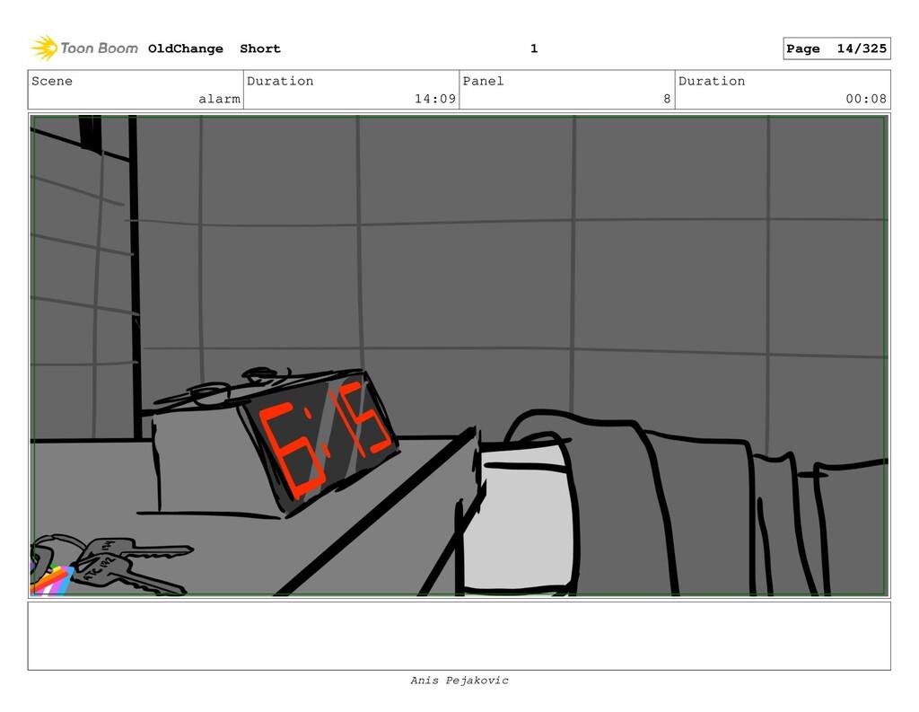 Scene alarm Duration 14:09 Panel 7 Duration 00:...