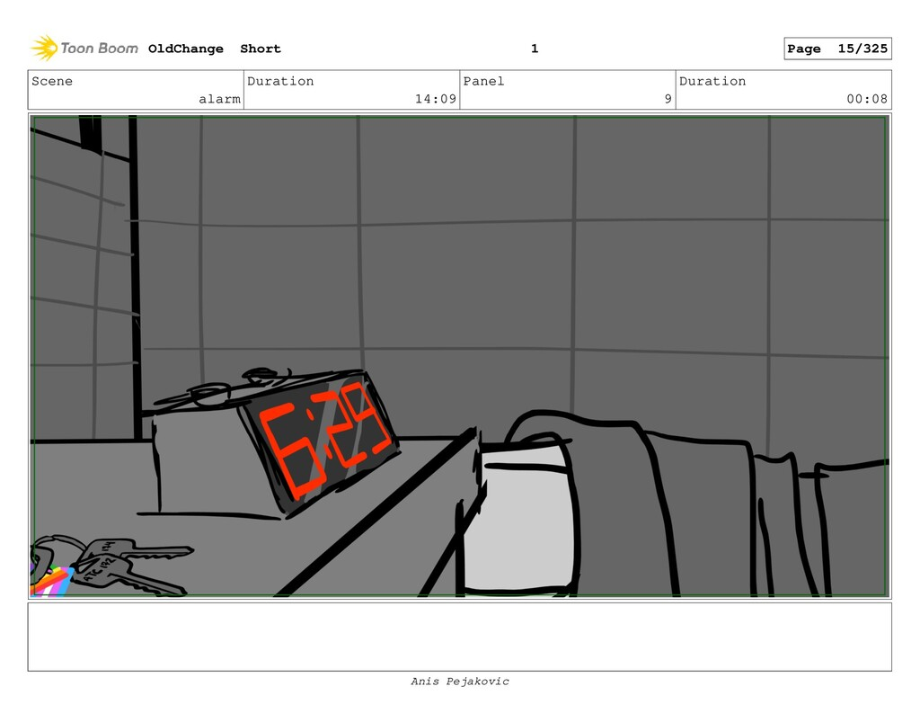 Scene alarm Duration 14:09 Panel 8 Duration 00:...