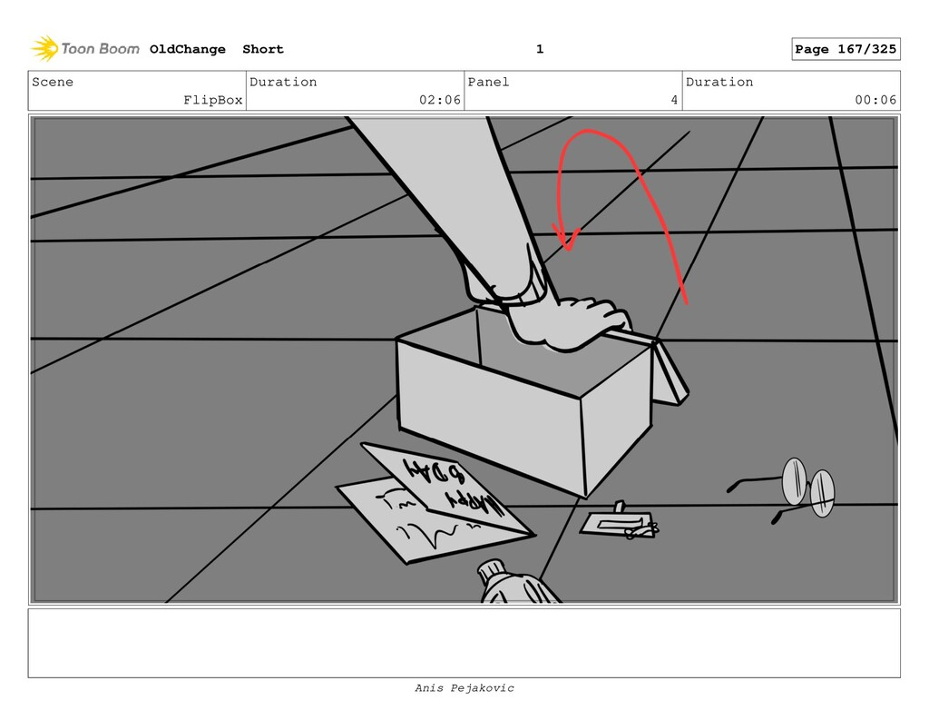 Scene FlipBox Duration 02:06 Panel 3 Duration 0...