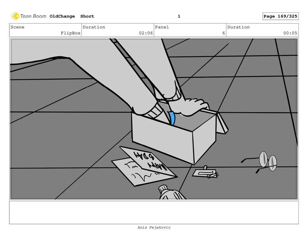 Scene FlipBox Duration 02:06 Panel 5 Duration 0...