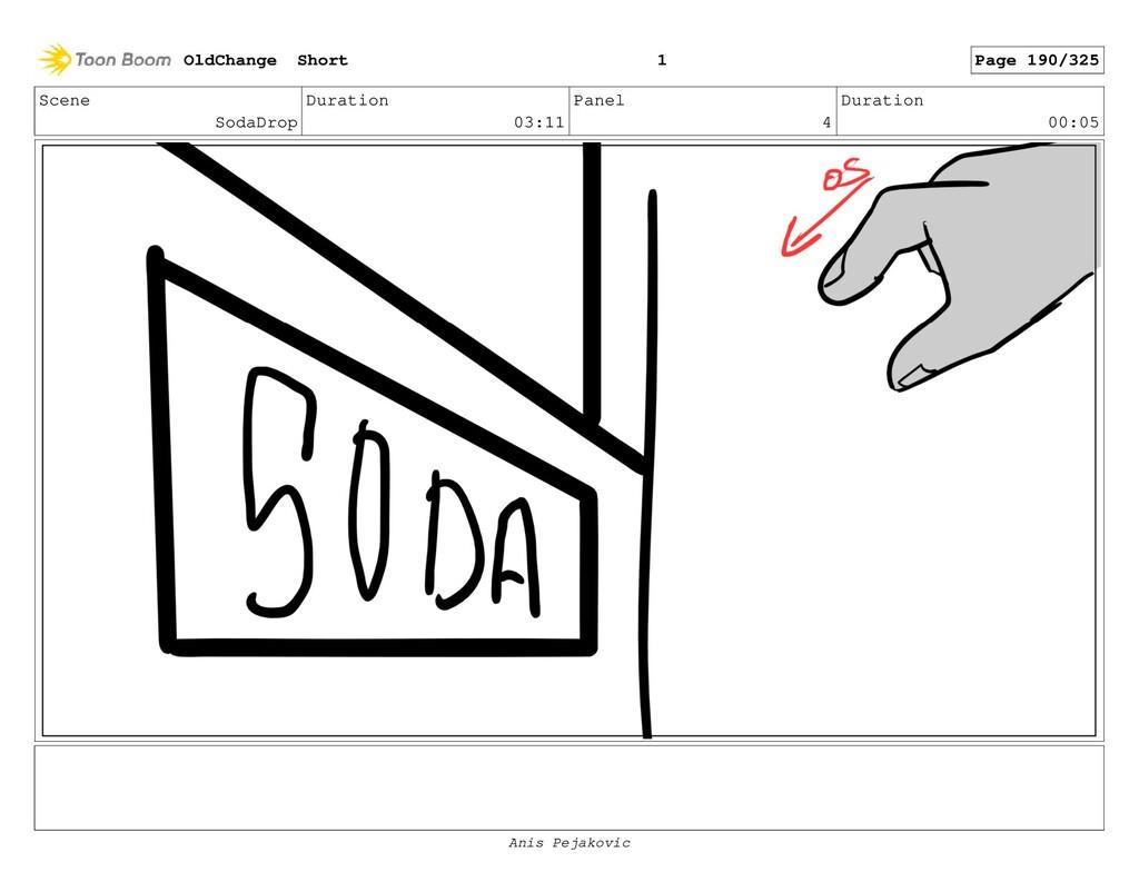 Scene SodaDrop Duration 03:11 Panel 3 Duration ...