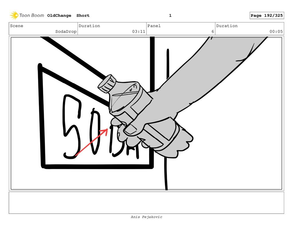 Scene SodaDrop Duration 03:11 Panel 5 Duration ...