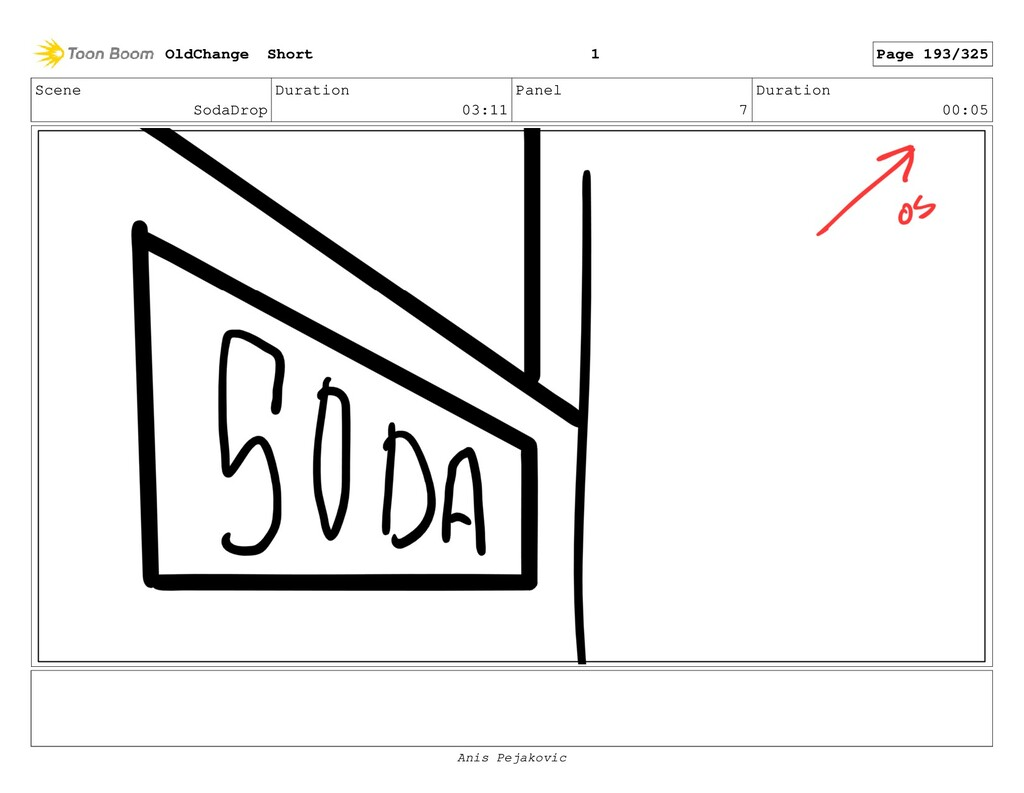 Scene SodaDrop Duration 03:11 Panel 6 Duration ...