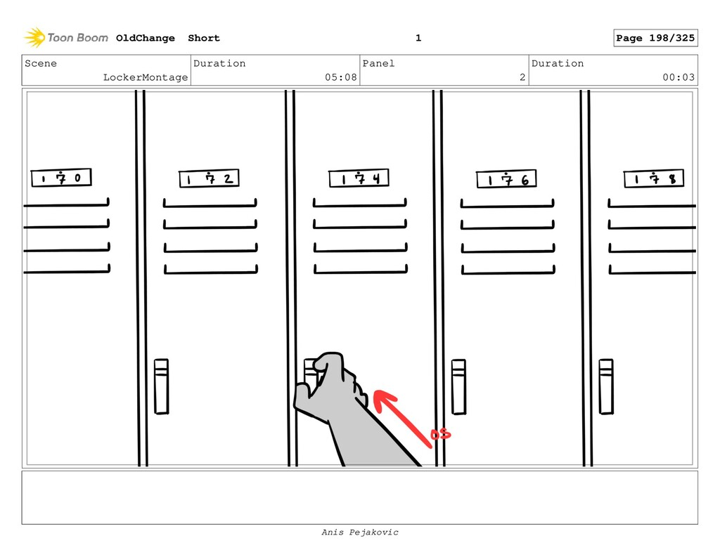 Scene LockerMontage Duration 05:08 Panel 1 Dura...