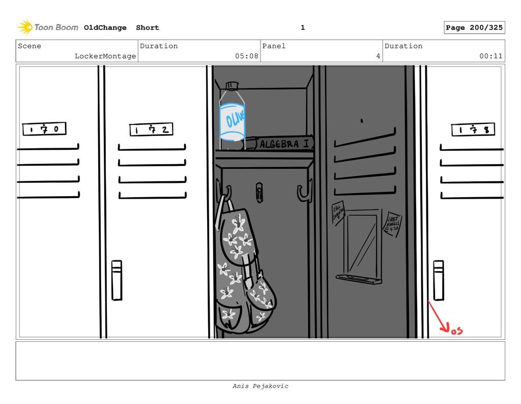 Scene LockerMontage Duration 05:08 Panel 3 Dura...
