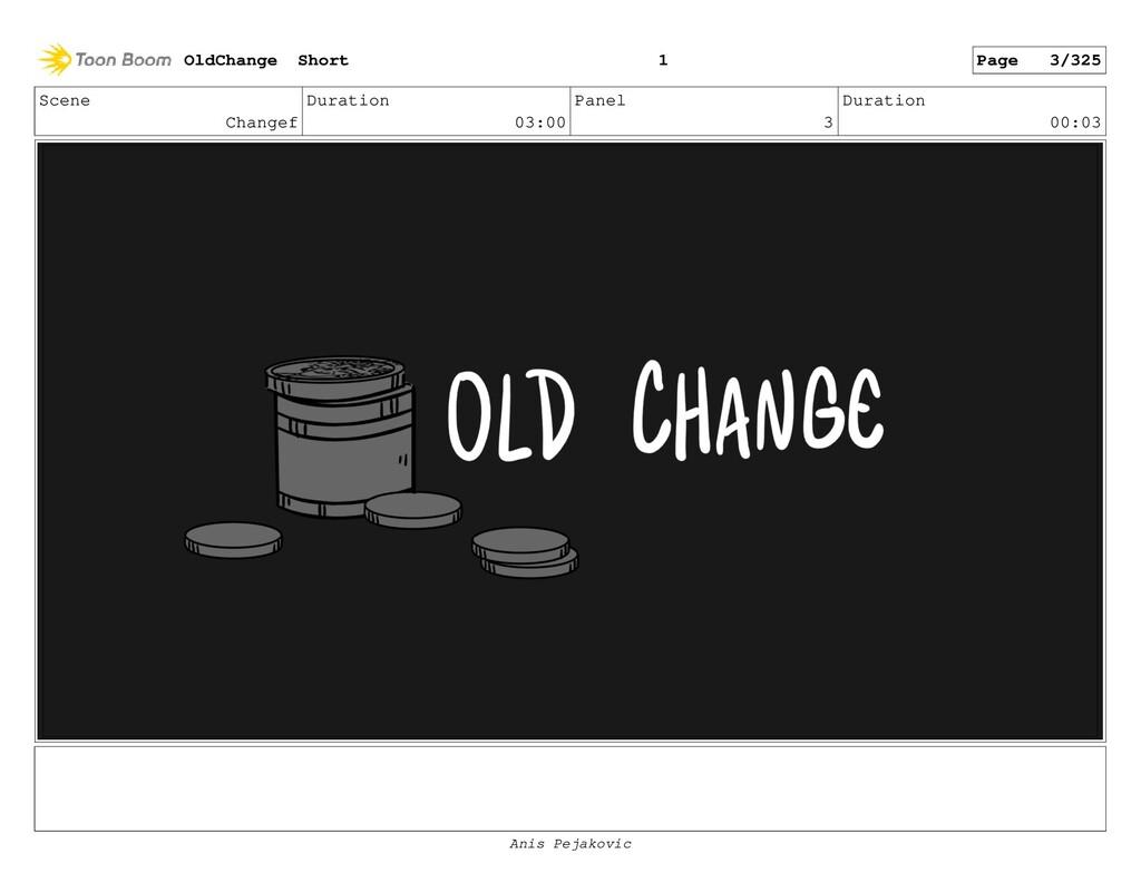 Scene Changef Duration 03:00 Panel 2 Duration 0...