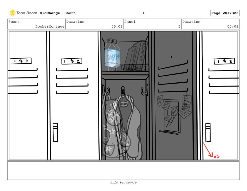 Scene LockerMontage Duration 05:08 Panel 4 Dura...