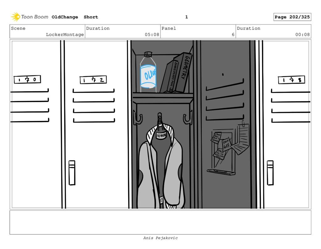 Scene LockerMontage Duration 05:08 Panel 5 Dura...