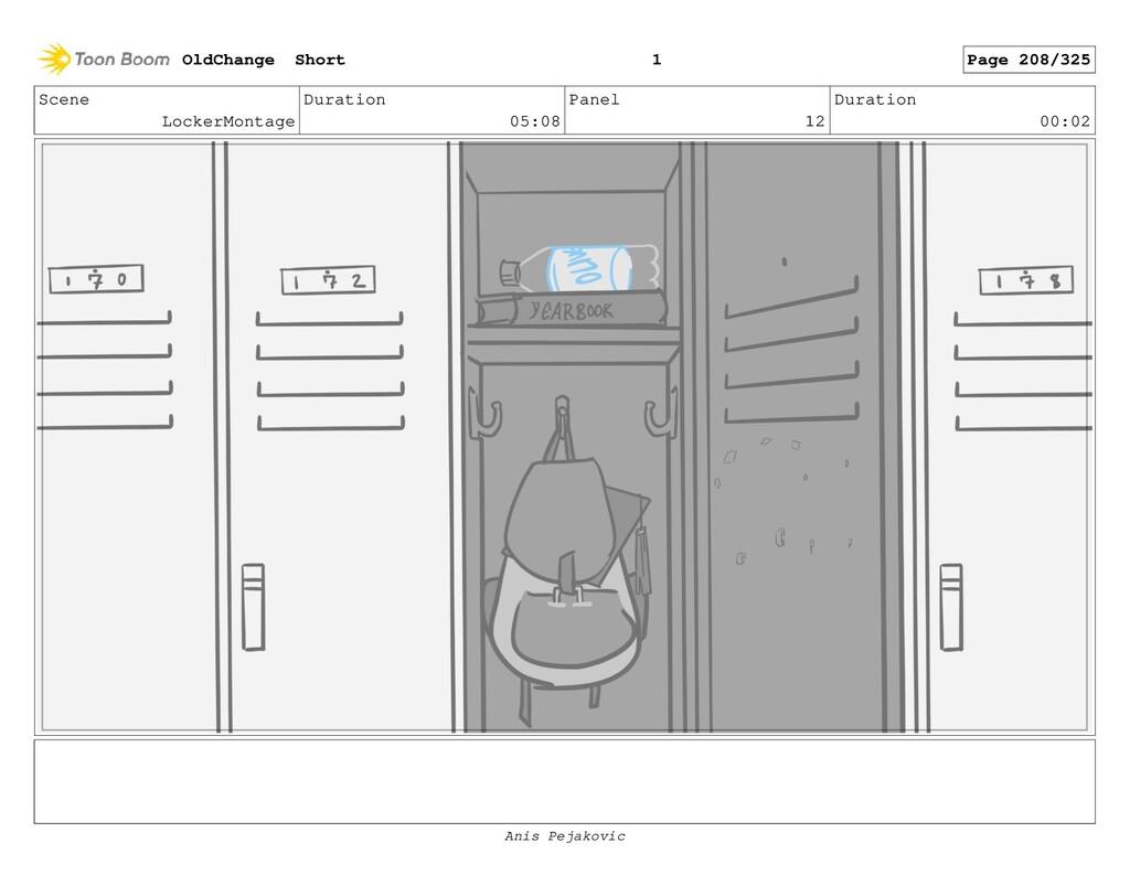 Scene LockerMontage Duration 05:08 Panel 11 Dur...