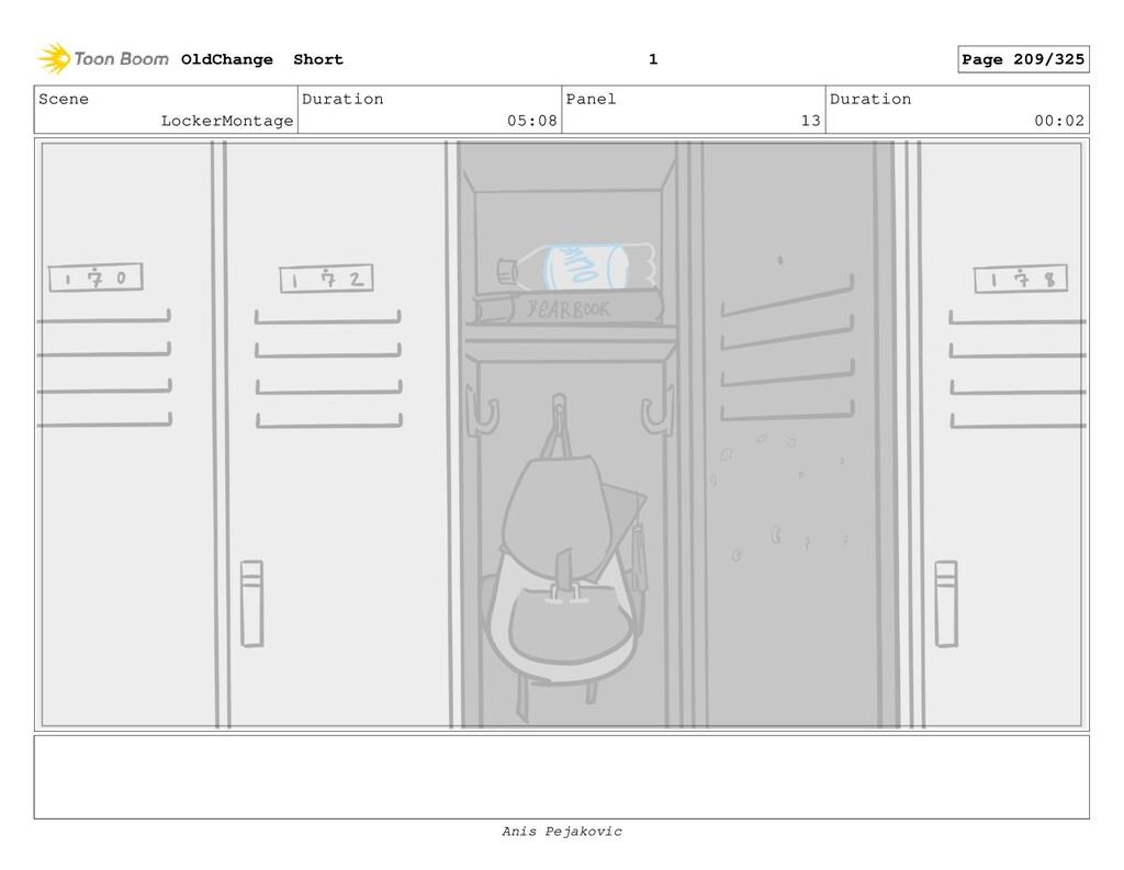 Scene LockerMontage Duration 05:08 Panel 12 Dur...