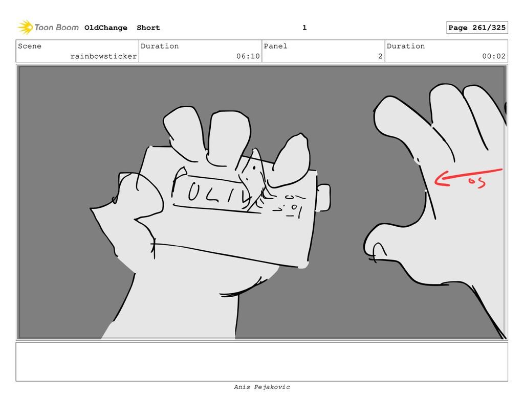 Scene rainbowsticker Duration 06:10 Panel 1 Dur...