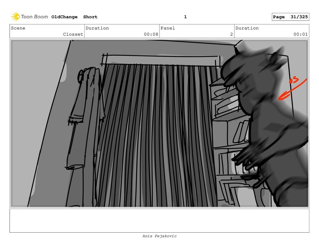 Scene Closset Duration 00:08 Panel 1 Duration 0...