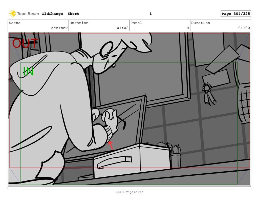 Scene deskbox Duration 04:08 Panel 3 Duration 0...