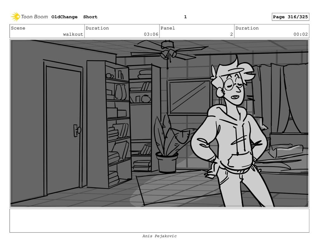 Scene walkout Duration 03:06 Panel 1 Duration 0...