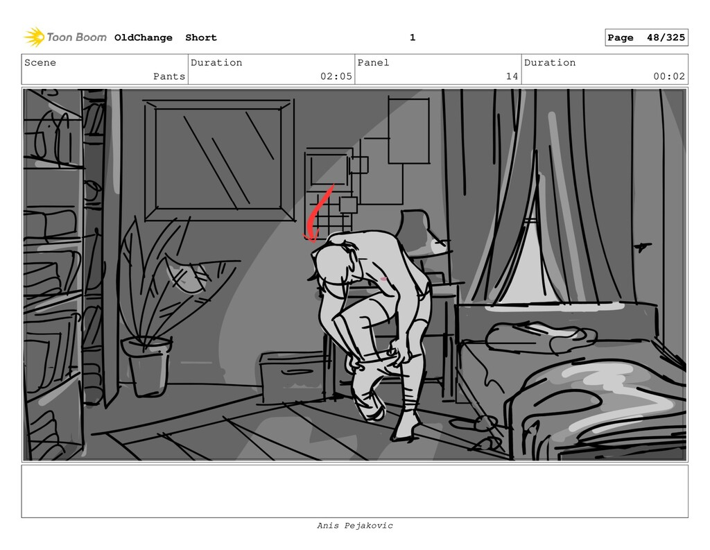 Scene Pants Duration 02:05 Panel 13 Duration 00...