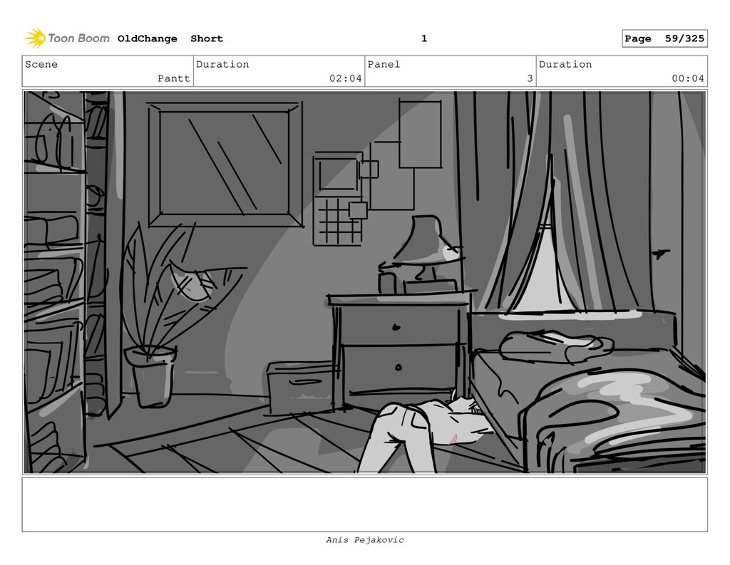 Scene Pantt Duration 02:04 Panel 2 Duration 00:...