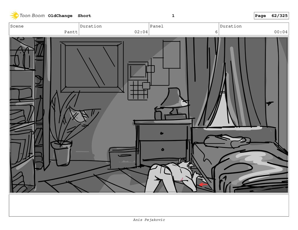 Scene Pantt Duration 02:04 Panel 5 Duration 00:...