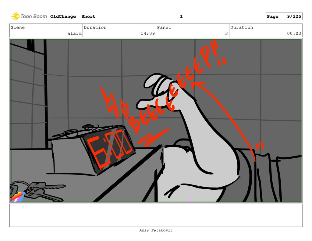 Scene alarm Duration 14:09 Panel 2 Duration 01:...