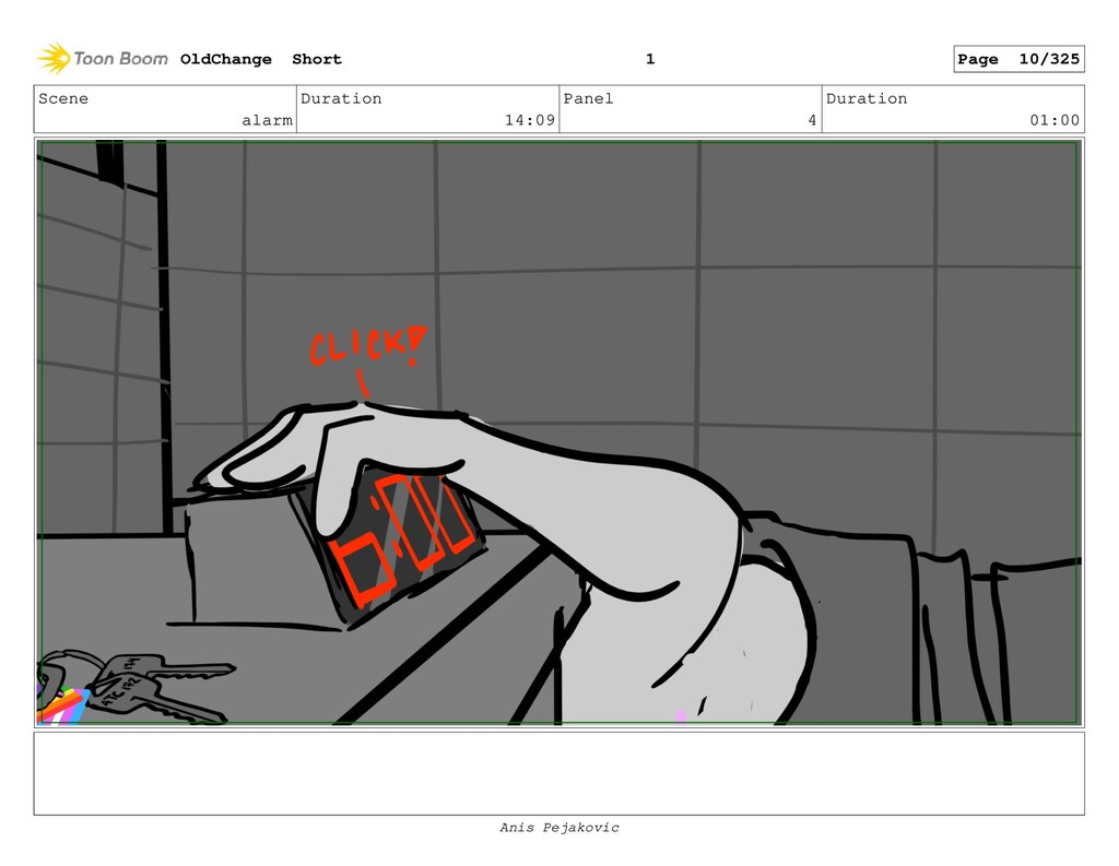 Scene alarm Duration 14:09 Panel 3 Duration 00:...