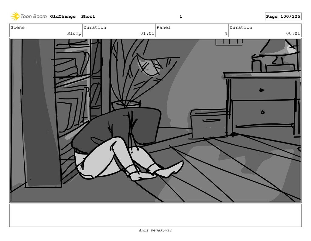 Scene Slump Duration 01:01 Panel 3 Duration 00:...