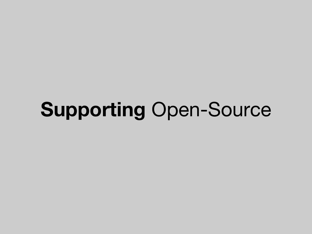 Supporting Open-Source