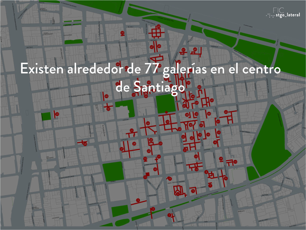 Existen alrededor de 77 galerías en el centro d...