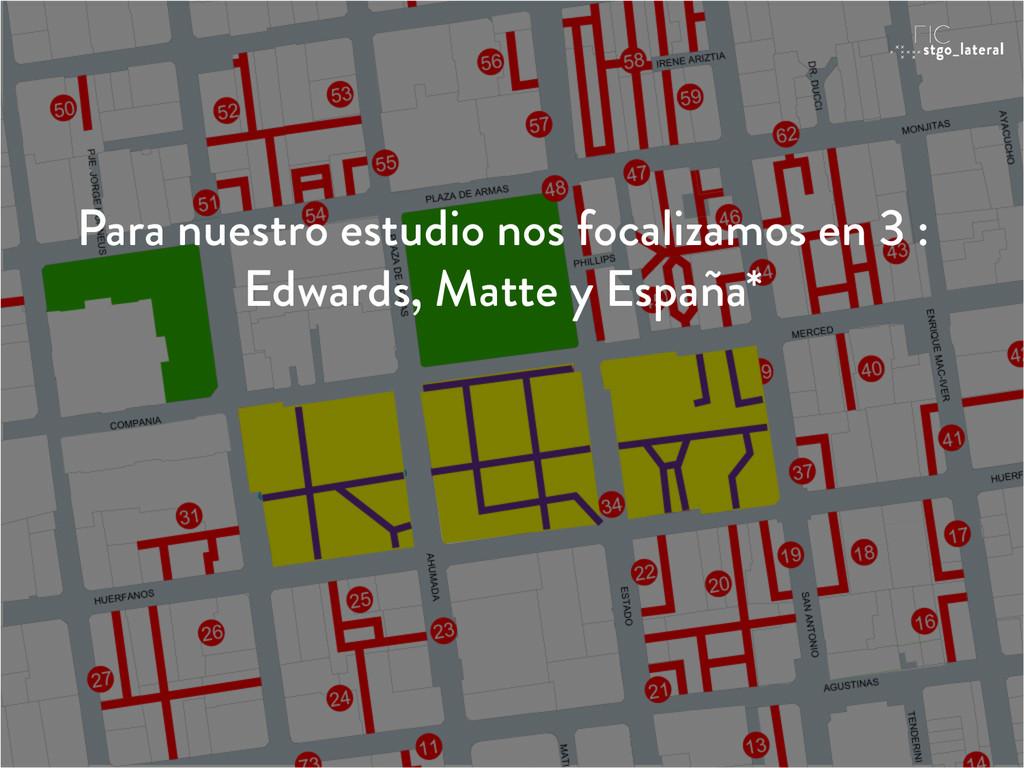 Para nuestro estudio nos focalizamos en 3 : Edw...