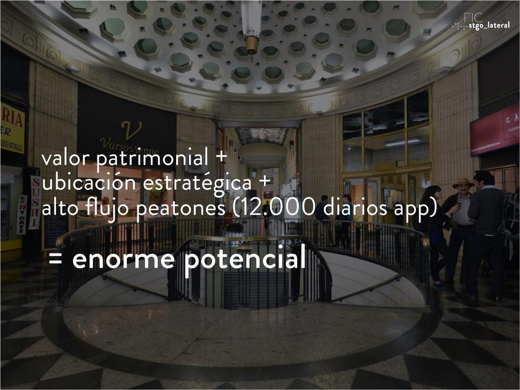 valor patrimonial + ubicación estratégica + alt...