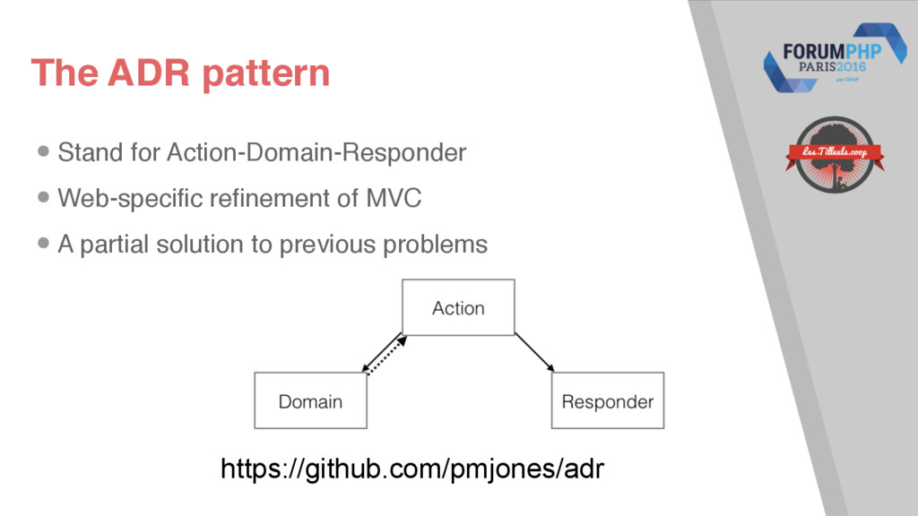 The ADR pattern •Stand for Action-Domain-Respon...