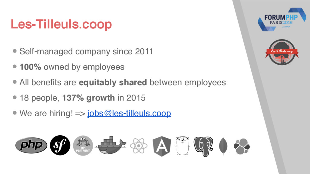 Les-Tilleuls.coop •Self-managed company since 2...