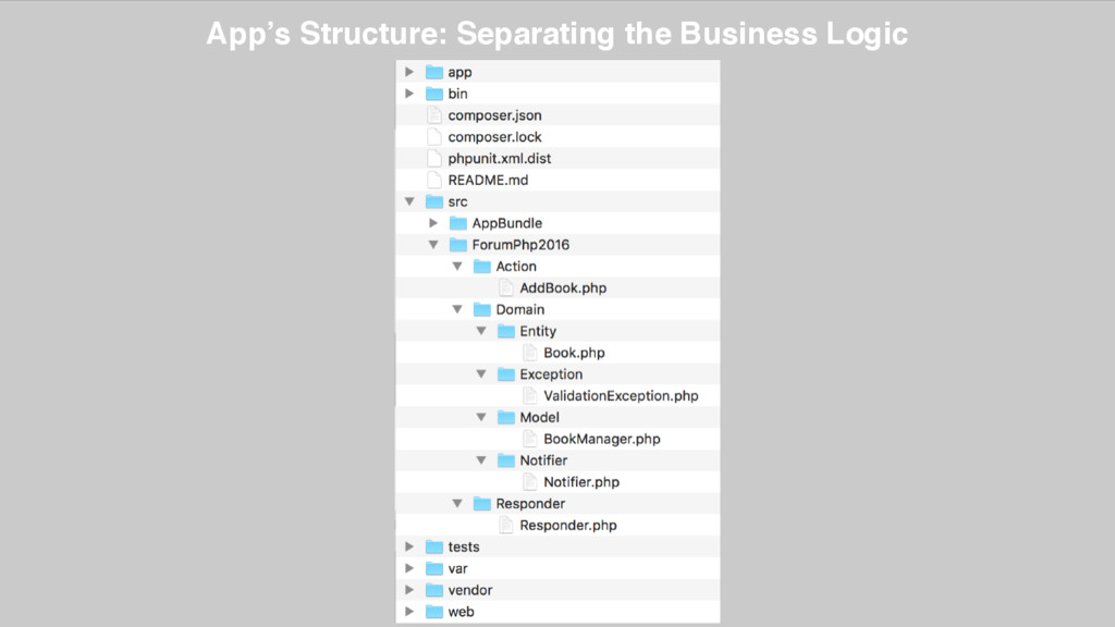 App's Structure: Separating the Business Logic