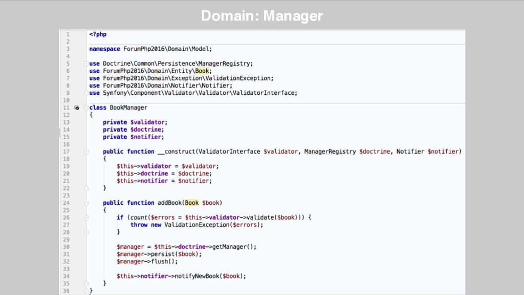 Domain: Manager