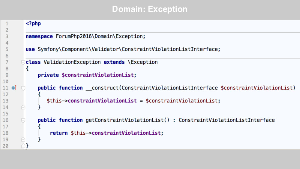 Domain: Exception