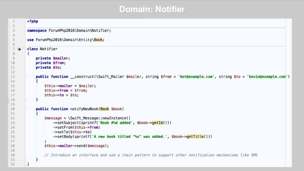Domain: Notifier